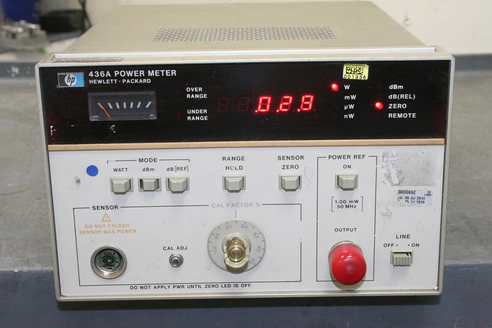 hp 436a power meter option 022 broken calibration knob ebay rh ebay com Agilent Power Meter Power Meter 435 HP