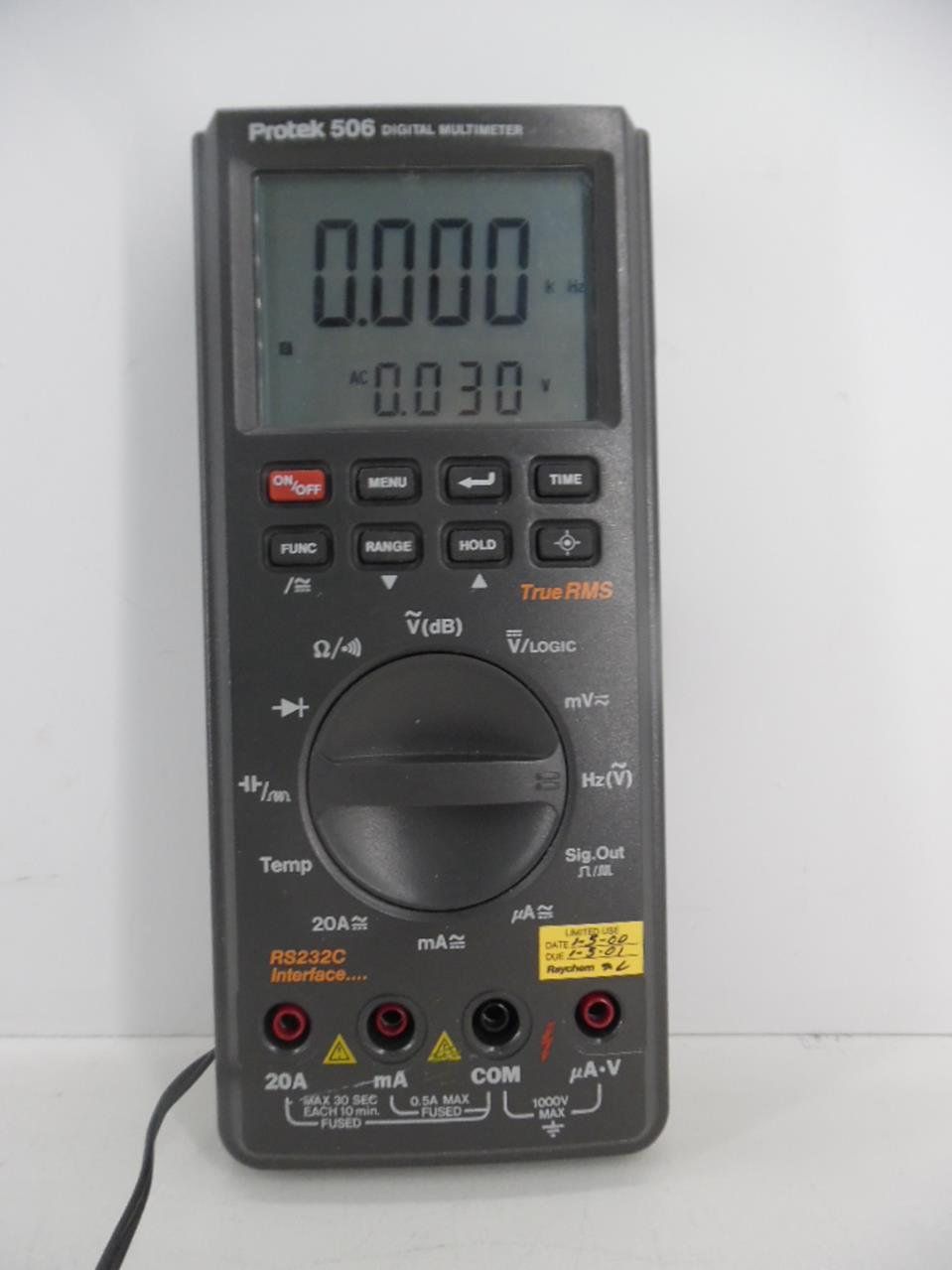 Schemi Elettrici Golf : Protek 506 digital multimeter true rms rs232c interface ebay