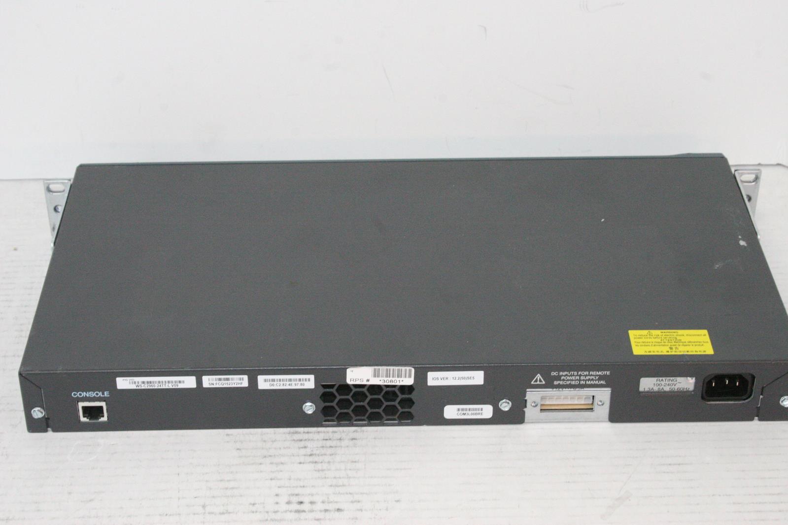 Cisco Ws C2960 24tt L 24 Port Managed Network Switch Ebay Wsc296024ttl Product Details