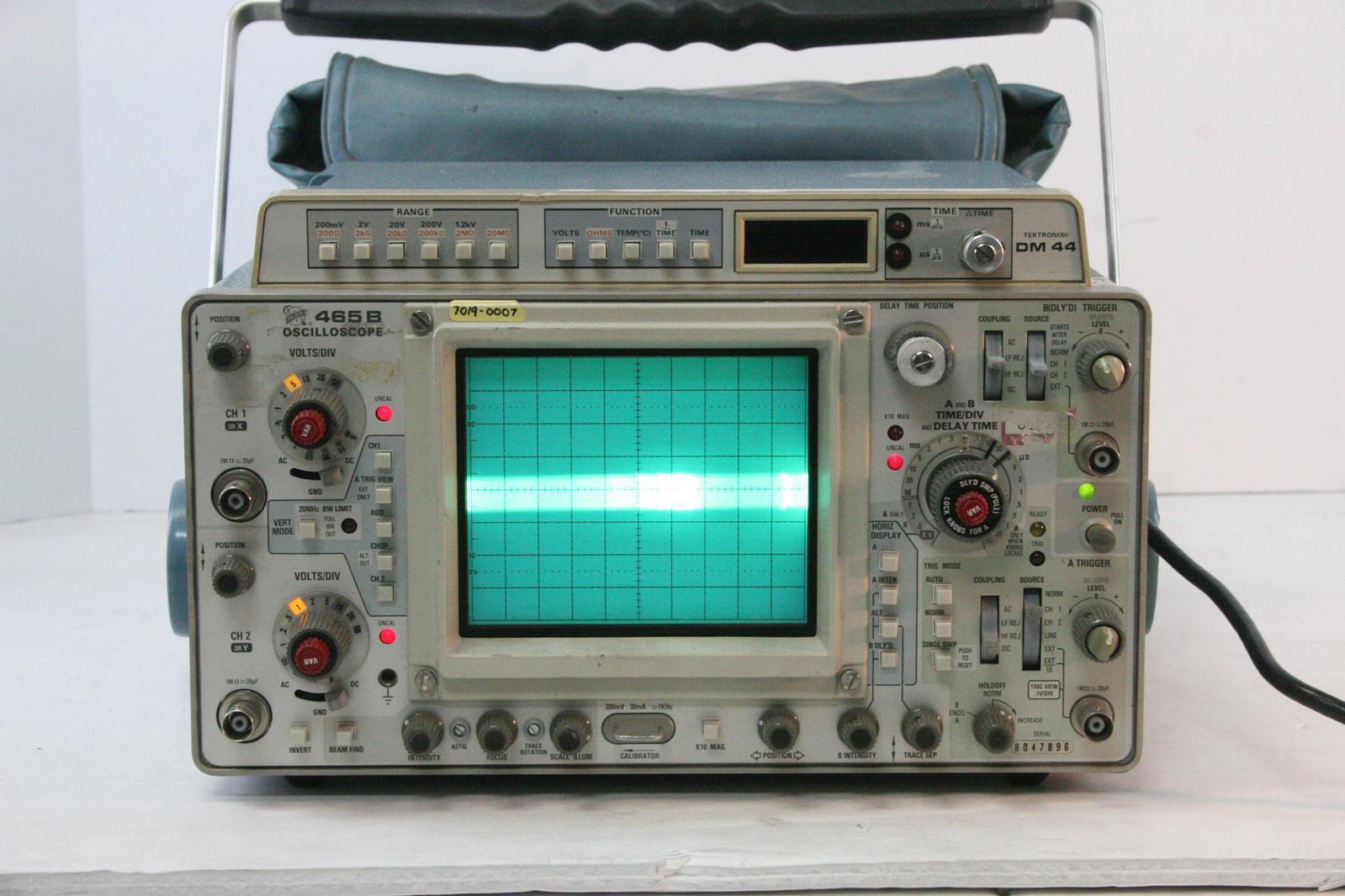 TEKTRONIX 465B Oscilloscope with DM44 Multimeter