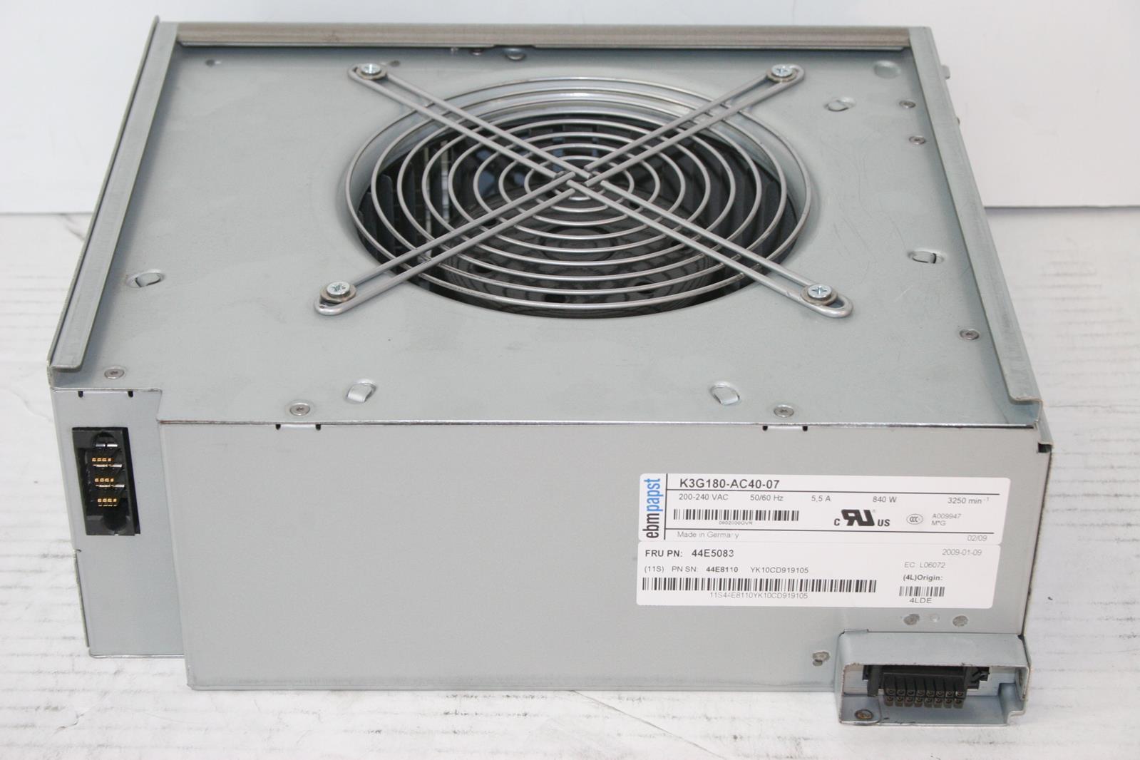 IBM Fan Blower Module BladeCenter H Chassis 44E5083 K3G180-AC40-07