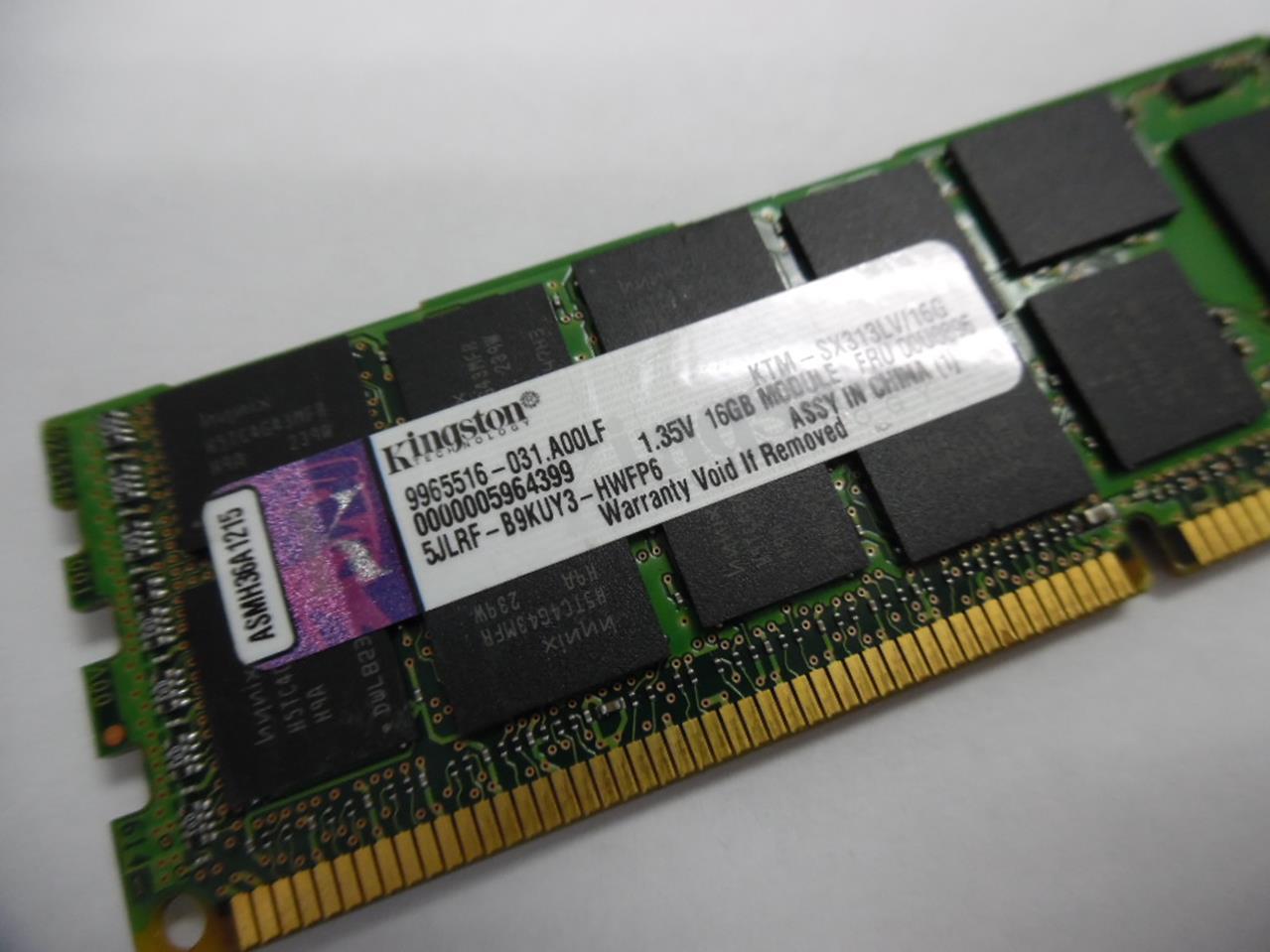KINGSTON KTM-SX313LV//16G 16GB 2Rx4 PC3L-10600R MEMORY MODULE