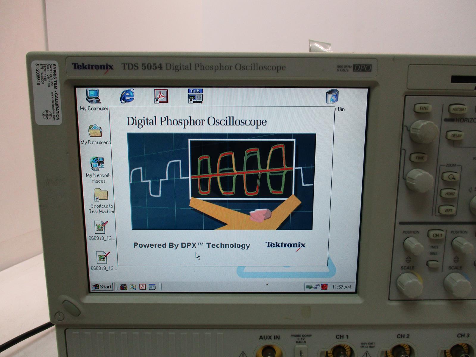 Details about TEKTRONIX TDS5054 DIGITAL PHOSPHOR OSCILLOSCOPE 500 MHZ DPO