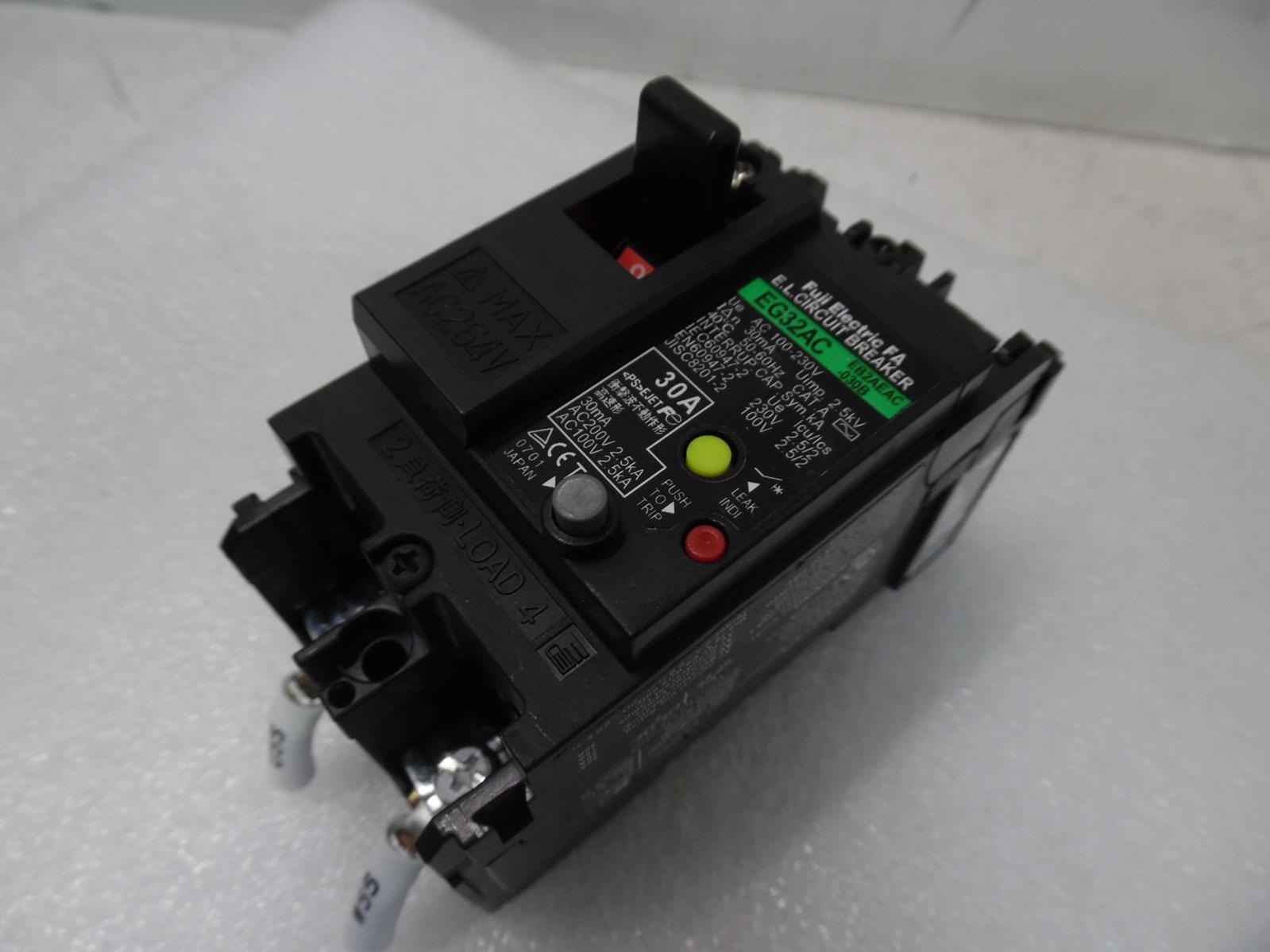 FUJI ELECTRIC EG53AC FA CIRCUIT BREAKER 3-POLE 40A