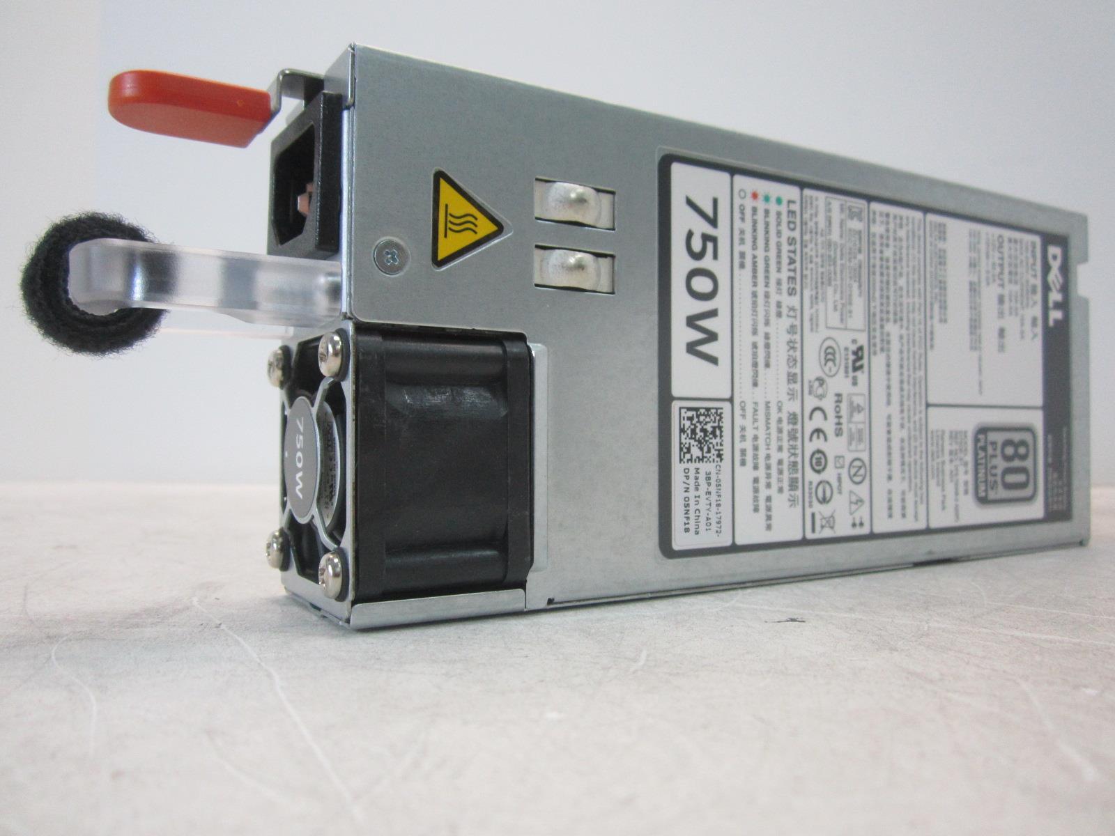 DELL D750E-S1 R620 POWER SUPPLY DPS-750AB-2 750W AC 80 Plus Platinum