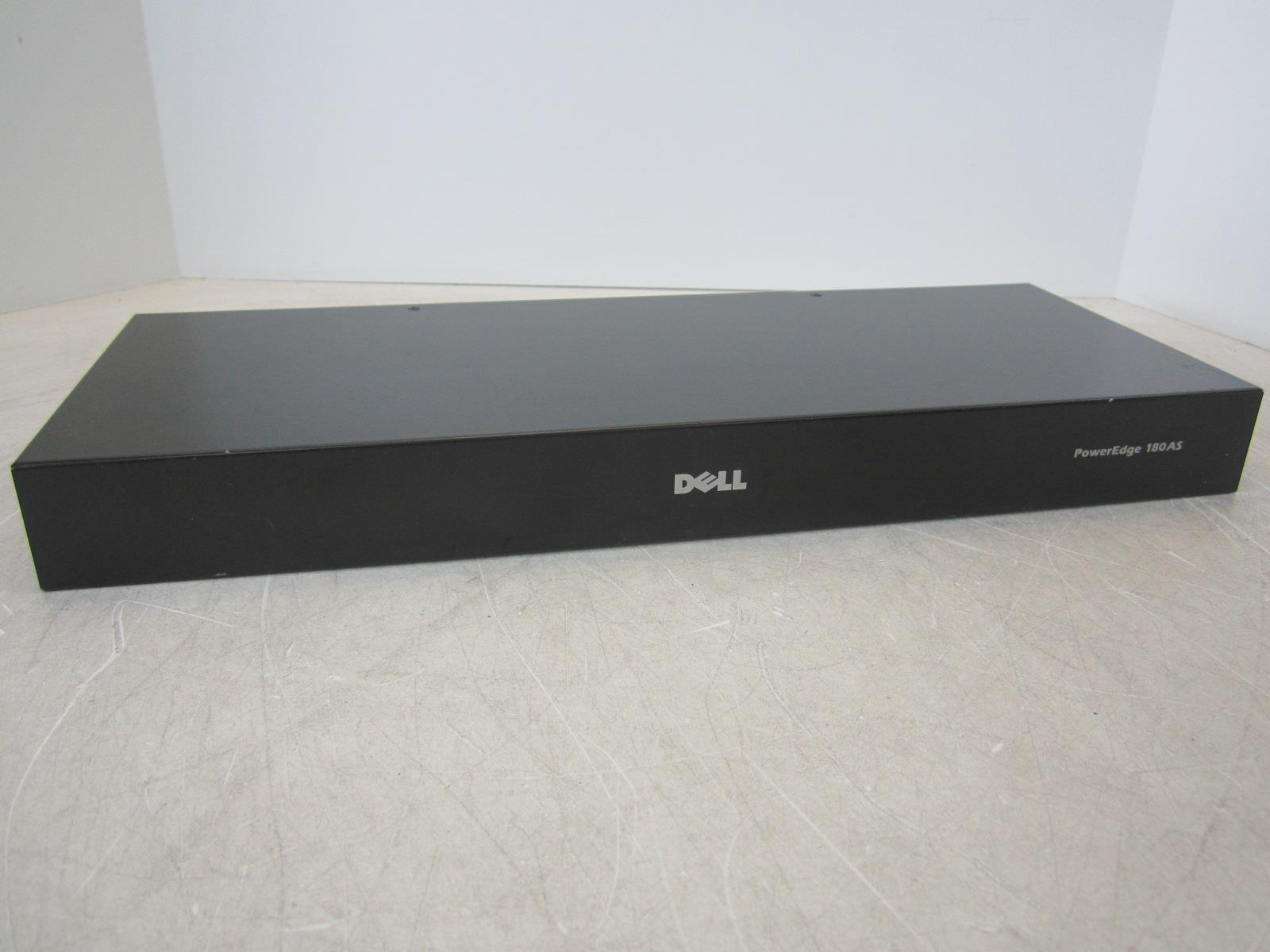 Dell Poweredge 180AS 8-Port KVM CMN 1012 Console Switch w// power cord and brack
